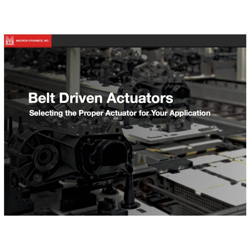 Download teh Belt Drive Actuator Ebook